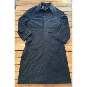 HUGO BOSS Mens Button Up Wool Cashmere Trench Coat